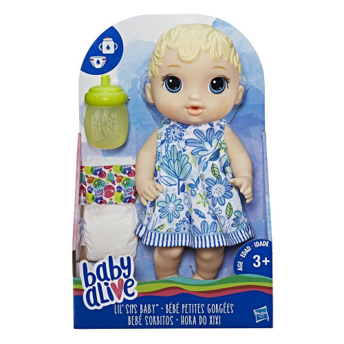 Baby alive lil sips baby - blonde