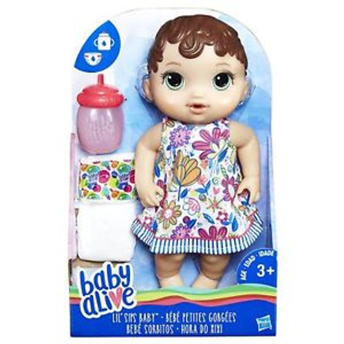 BABY ALIVE LIL SIPS BABY - BRUNETTE
