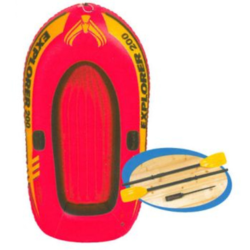 Intex Explorer 2 Person Boat With Oars And Pump