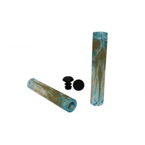 Crisp 160mm Grips - Gum/white/blue
