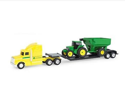 Farm Semi 1:64 Yellow Hauler Tractor + Grain Cart