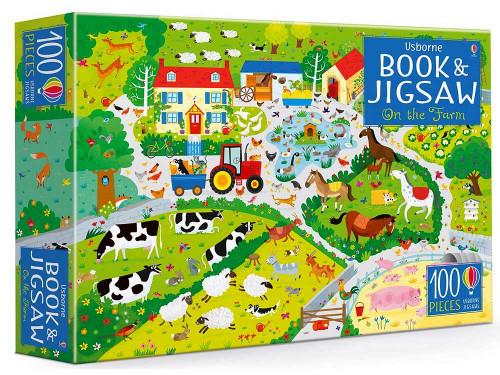 USBORNE ON THE FARM 100 PIECE PUZZLE + BOOK