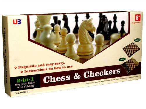CHESS & CHECKERS 12 INCH MAGNETIC