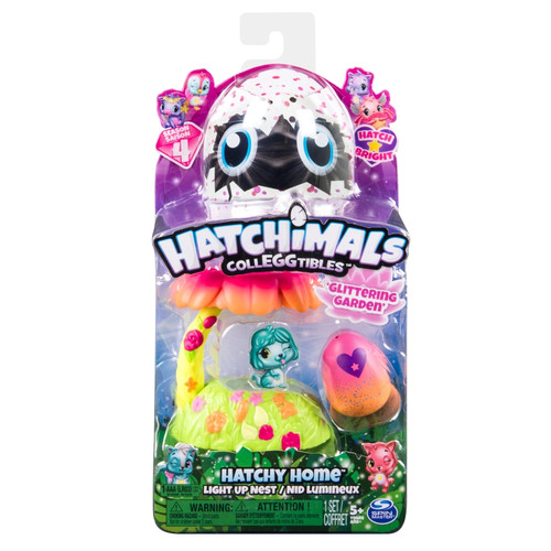 HATCHIMALS COLLEGGTIBLES HATCHY HOME - GLITTERING GARDEN
