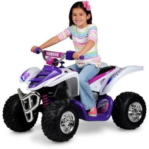 YAMAHA 12 VOLT RAPTOR ATV RIDE ON - PURPLE/WHITE
