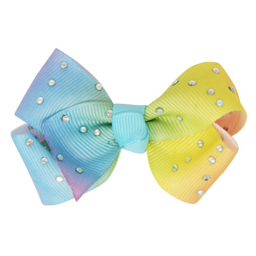 Gem ombre bow hairclips