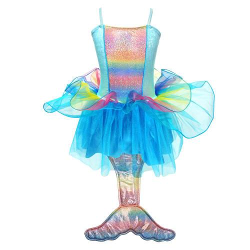 Mermaid princess dress size 5/6 - multi blue
