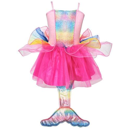 Mermaid princess dress size 5/6 - multi pink
