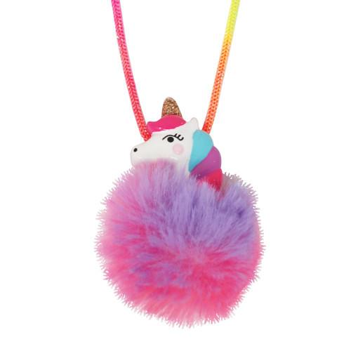 Unicorn pom pom necklace