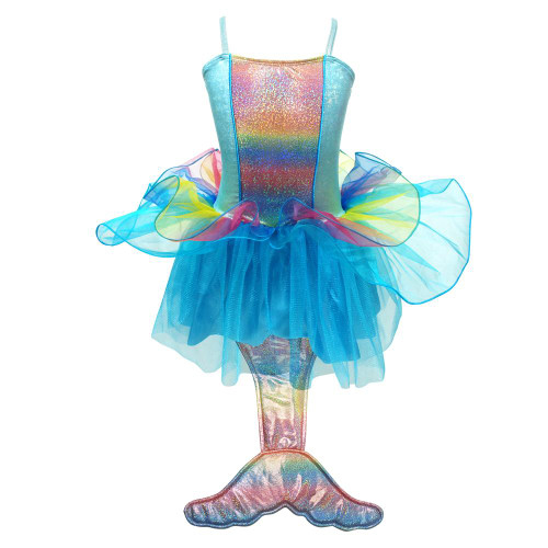 Mermaid princess dress size 3/4 - multi blue