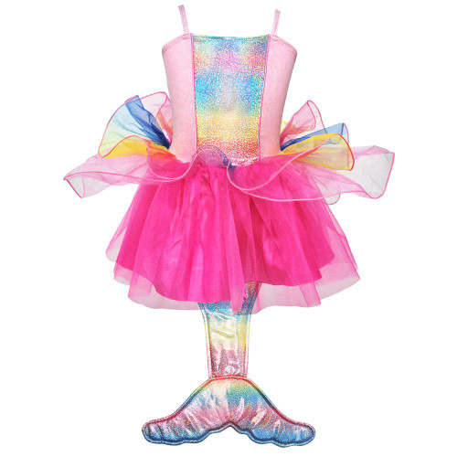 Mermaid princess dress size 3/4 - multi pink