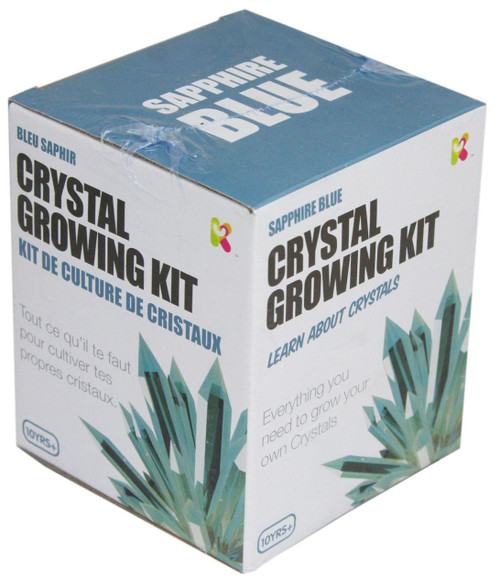 Crystal growing kit - sapphire blue