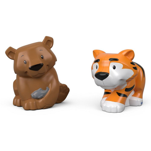 Little people animal 2 pack - tiger & bear