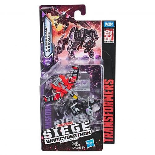 Transformers siege wfc micromaster laserbeak & ravage