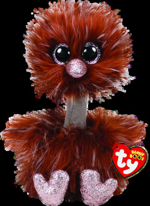 Beanie Boos Medium - Orson The Brown Ostrich