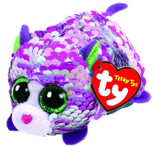 Teeny Tys Flippables - Lilac The Iridescent Cat