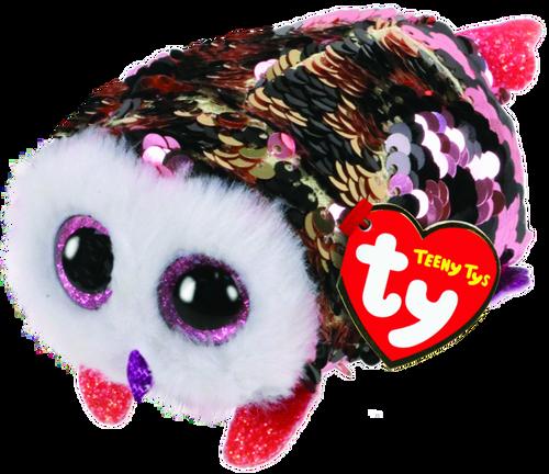 Teeny Tys Flippables - Pink & Black Owl