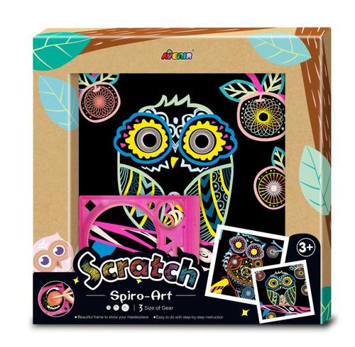 Avenir Scratch Spiro Art - Owl