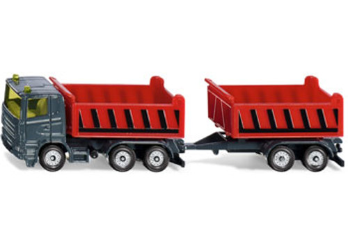 Siku - truck with atnker with tipping trailer