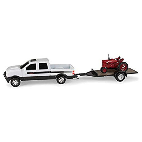 Case Ih Hauling Set: 1/43 Farmall Mta Tractor Pickup And Tra