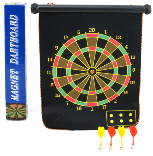 Magnetic Dartboard Roll Up Game