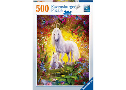 RAVENSBURGER - UNICORN AND FOAL PUZZLE 500 PCE