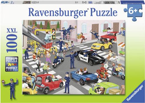 RAVENSBURGER - POLICE ON PATROL PUZZLE 100PCE