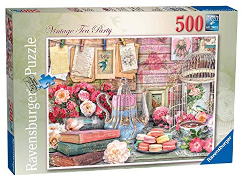 RAVENSBURGER - VINATGE TEA PARTY PUZZLE 500 PCE