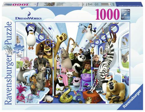 RAVENSBURGER - DISNEY DREAMWORKS FAMILY ON TOUR PUZZLE 1000