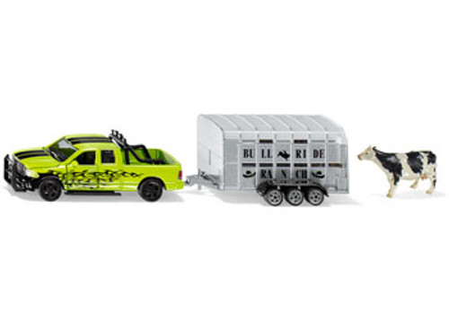 Siku - ram 1500 with livestock trailer 1:50 scale