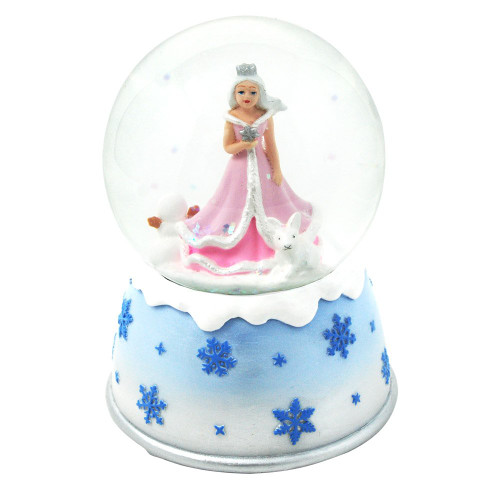 Snow princess musical snow globe