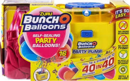 Bunch O Balloons Self Sealing Party Balloons Pump & 16 Ballo 56174D/PINK