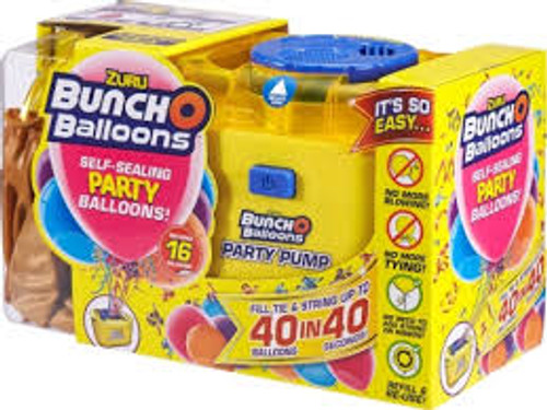 Bunch O Balloons Self Sealing Party Balloons Pump & 16 Ballo 56174B/GOLD