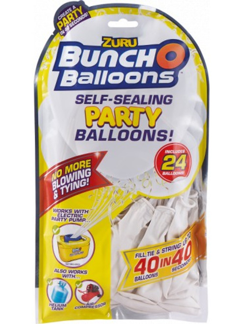 Bunch O Balloons Self Sealing Party Balloons 24pk White
