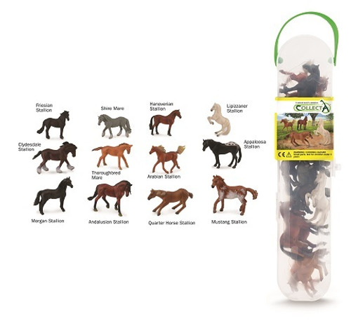 Gift Set - Horses 12 Piece In Tube