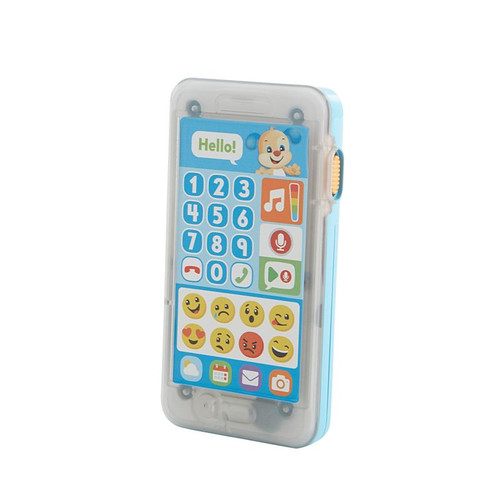 Laugh & learn leave a message smart phone - blue