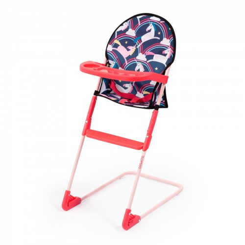 Bayer Cosatto Dolls High Chair - Dark Blue Unicorn Design