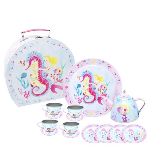 Wish upon a starfish tin teaset in case