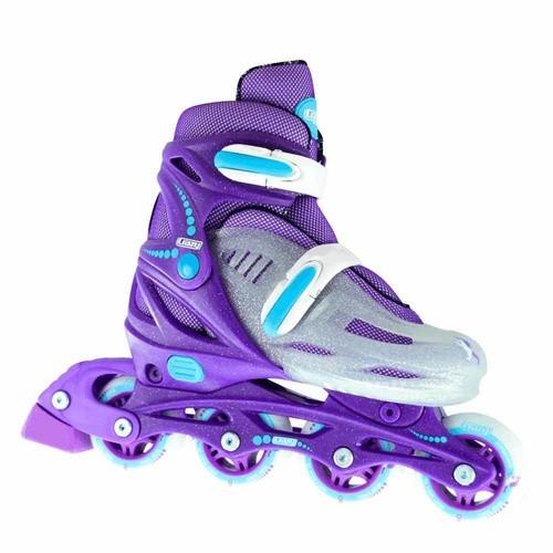 148 Adjustable Inline Skates - Purple Glitter Large (5-8)