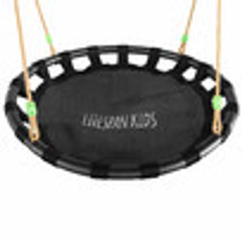 Lynx 5 station swing set with slippery slide