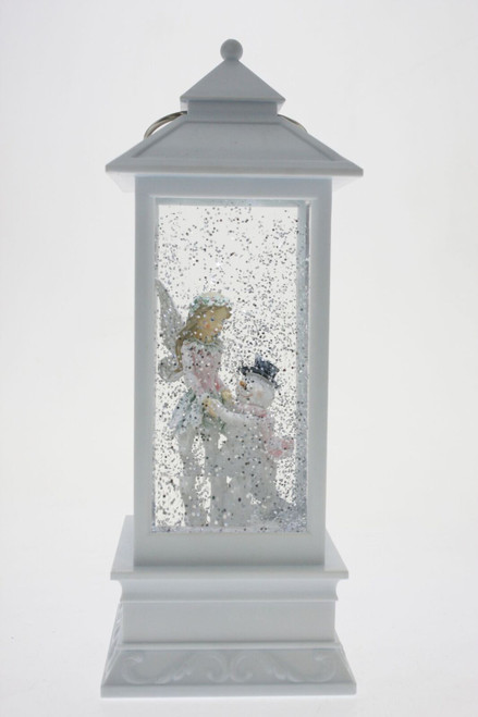 Magical christmas lantern - fairy and snowman