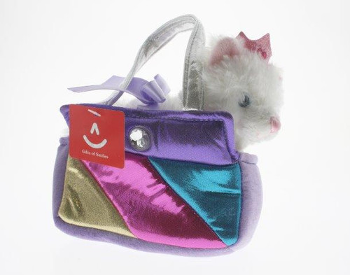 Fancy pal princess kitty in square rainbow bag