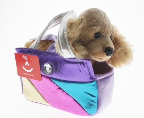 Fancy pal pet carrier labrador in square rainbow bag
