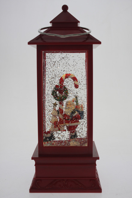 Magical christmas lantern - santa and candy cane