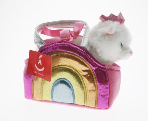Fancy pal cat in pink multi bag