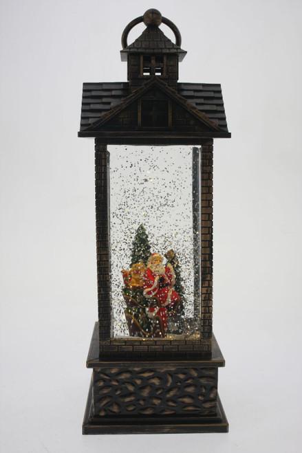Magical christmas lantern - santa in sleigh