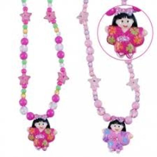 Dancing ballerina ball chain necklace