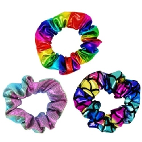 Shimmering hair scrunchies