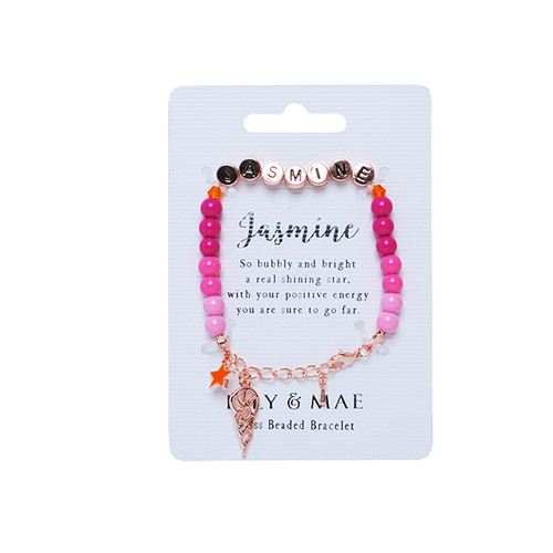 Beaded Bracelet -jasmine