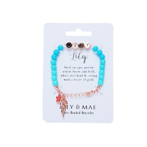 Beaded Bracelet -lily